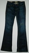 "MISSES WILLIAM RAST BELLE FLARE JEANS SZ 25"" X 34 WAIST TALL LONG COTTON STRETCH"