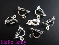 120Pcs  Silver plate clip on earring FINDINGS M312