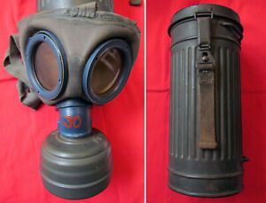 WW2 German Gas Mask and Canister