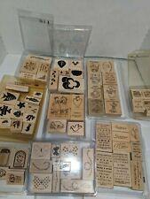 Huge Lot of over 70 Vintage Retired Stampin Up Stamps Ink
