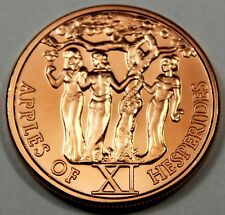 The 12 Labors of Hercules Series Apples of Hesperides #11 1 oz .999 Copper Round