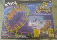 KNEX Screamin Serpent Roller Coaster w/Motor 63153/complete w/2minor color subst