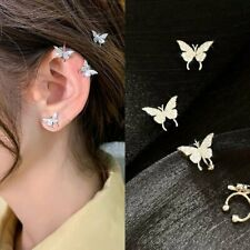 Chic Butterfly Insect Crystal Earrings Ear Clip Earhook Women Boho Cute Jewelry