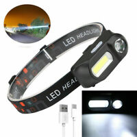 LED Head Light Rechargeable Headlamp Flashlight Torch For Camping Headlight Acc