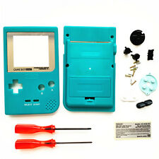 Teal Green Housing Shell Case + Silver Lens For Nintendo Game Boy Pocket GBP