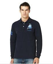Automobili Lamborghini Long Sleeves Polo Shirt - Dark Blue size Large