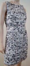 ALICE + OLIVIA White Grey & Black Layered Short Fitted Evening Dress Sz:10; UK14