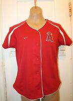 NIKE Team Los Angeles Angels Dri-Fit Ladies MLB Baseball Jersey Women's Small