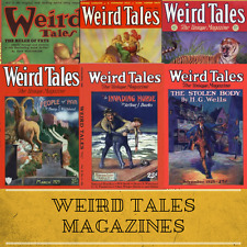 WEIRD TALES - Horror Pulp Fiction Magazine Retro Vintage 204 Issues on Data DVD