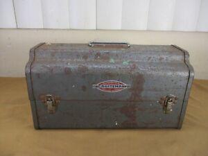 Vintage Original Craftsman Tools Round Top Lunchbox Mailbox Shape Tool Box