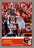 2019 Score Scorecard NFL Football Parallel Singles (Pick Your Cards)