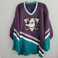 Rare Vintage 90s CCM NHL Anaheim Mighty Ducks Hockey Jersey Mens XL Disney