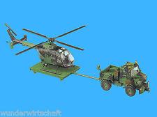 Roco Minitanks H0 837 Set UNIMOG + BO 105 Hubschrauber getarnt Special HO 1:87
