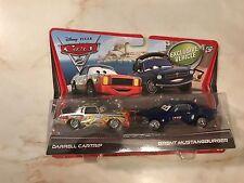 DISNEY PIXAR CARS 2010 2-Pack Set Darrel Cartrip Brent Mustangburger 1:55 Movie