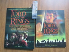 LORD OF THE RINGS OFFICIAL MOVIE GUIDE VISUAL COMPANION BOOKMARK LOT  A11807