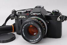 NEAR MINT CANON AV-1 BLACK 35mm SLR & FD 50mm F1.8 S.C. LENS from Japan #Z105
