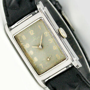 Omega 1939s Very Rare Biscuit Style Marine Deluxe Original Dial Wrist Watch