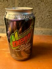 Mountain Dew Pitch Black Original Grape Formula Soda Can 2004 1st Edi EMPTY