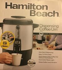 Hamilton Beach 40 Cup Dispensing Coffee Urn Easy Fill and Clean  New in Box