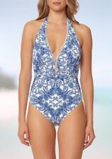BLEU BY ROD BEATTIE® 10 Driving Miss Paisley Halter Swimsuit NWT $127