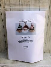 Christmas Santa and Elves Holiday Crochet Ornament Craft Kit makes 3