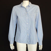MADEWELL Blue White Striped Button Down Cotton Shirt Top size Medium