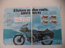 advertising Pubblicità 1977 MOTO BMW R100 R 100 RS