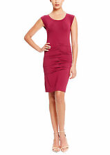 NWT WOMEN Nicole Miller Artelier Plum Pleated   Cocktail Dress size S $235