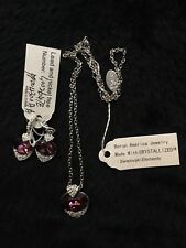 Borun America Jewelry Swarovski Crystal set Amethyst Color