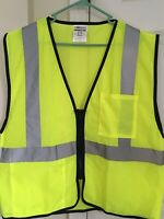ML Kishigo - Double Pocket Mesh Vest - Style #1537 Color Lime Size Large