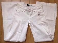 7 For All Mankind Jiselle Phenomenal Flare Sz 32 Slim Fit Clean White NWT $178