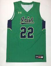 New Notre Dame Fighting Irish Gametime Basketball Jersey Men's L Green Gold #22