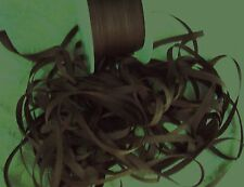 "100% PURE SILK RIBBON 1/4""[7mm] CHESTNUT/BROWN 10 YDS"