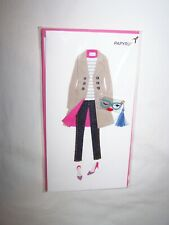 Papyrus Birthday Greeting Card/Envelope; Stylish Woman's Outfit, Cute Purse