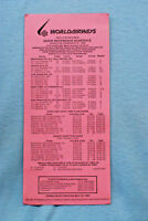 World Airways Quick Reference Schedule - Feb. 27, 1980