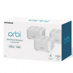NETGEAR Orbi AC1200 Whole Home Mesh WiFi System Dual Band RBK13-100NAS New Seal