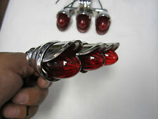 Mini Outside Tri Marker Light Set Visor  Custom Truck Hot Rat Rod Red