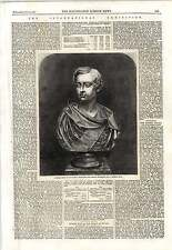 1862 Marble Bust Prince Of Wales J Steell