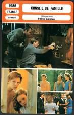 CONSEIL DE FAMILLE - Hallyday,Ardant,Luchini(Fiche Cinéma)1986 - Family Business