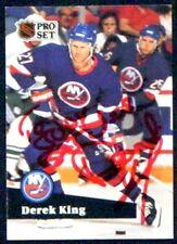 Derek King New York Islanders 1991-92 Pro Set ProSet Signed Card