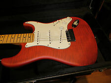 Fender Custom Shop Deluxe Stratocaster Crimson Flame Maple Top ABBY PICKUPS