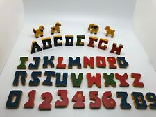 Vintage Trixy Toy Wood Letters And Numbers - Complete - Boston, Mass