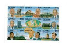 Guyana - 1993 - Famous Personalities -  Mahatma Gandhi - Dalai Lama - MLK - MNH