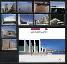 MODERN ARCHITECTURE TRIENNALE ON PORTUGAL 2007 Scott 2908-2917,2918. MNH