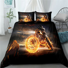 Motorcyclist Twin/Full/Queen/King Motorcycle Duvet/Quilt Cover Duvet Cover Set
