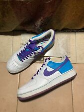 315122 151 Nike Air Force 1 Low 07 White Purple Laser Blue Size 13 US EXCELLENT