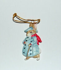Old Mr Bunny Beatrix Potter Christmas Ornaments by Schmid Porcelain 1983
