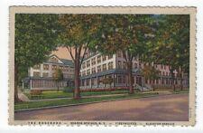 Sharon Springs, New York, View of The Roseboro Hotel, 1951