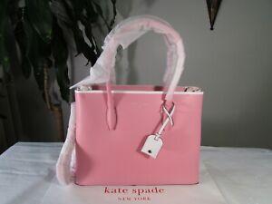 NWT Kate Spade Leather Medium Top Zip Eva Satchel Pink Mauve Pink Carnation