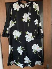 DOROTHY PERKINS BLACK FLORAL DRESS SIZE 16 BNWT